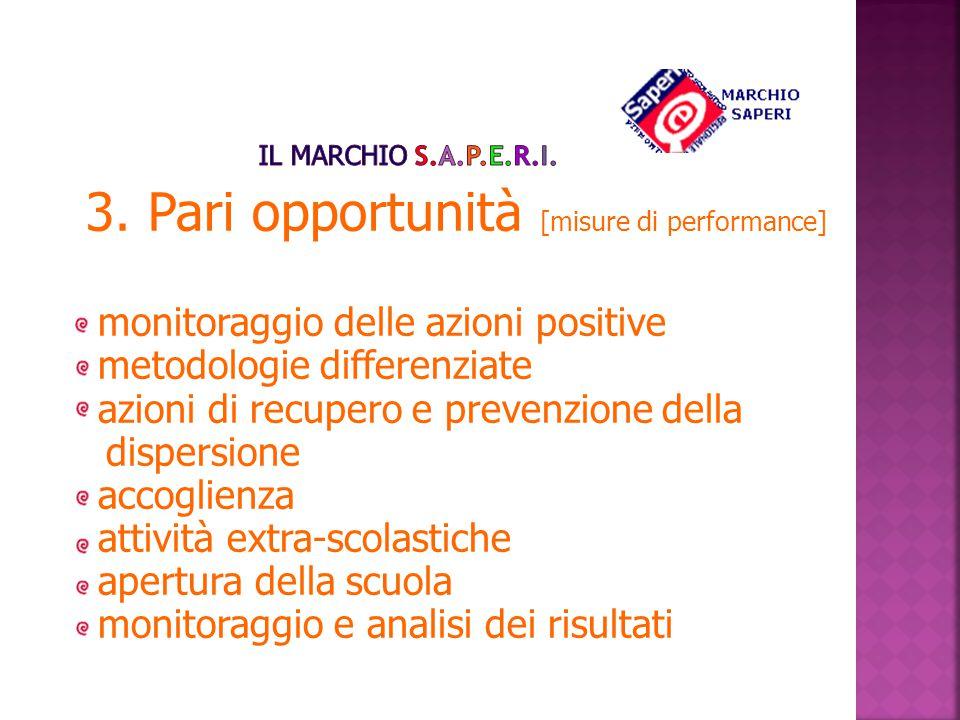 3. Pari opportunità [misure di performance]